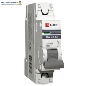 Авт. выкл. ВА 47-63 EKF PROxima 1P 20А (C) 6кА