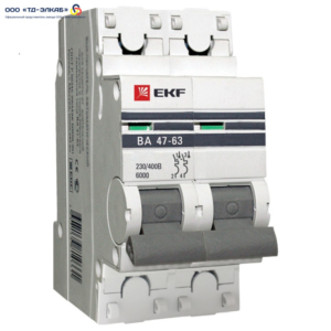 Авт. выкл. ВА 47-63 EKF PROxima 2P 16А (C) 6кА
