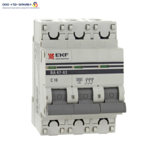 Авт. выкл. ВА 47-63 EKF PROxima 3P 20А (C) 6кА