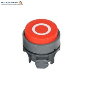 """Головка кнопки выступающая, с пружинным возвратом и маркировкой """"0"""", красная"""