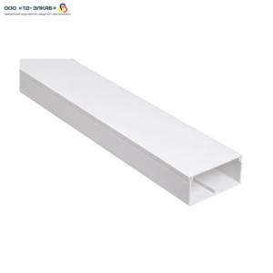 Кабель-канал ПВХ 40х16 2м белый с перегородкой