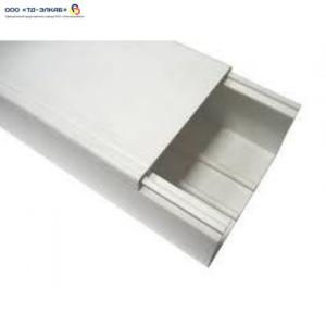 Кабельный короб с крышкой ПВХ 100х50 белый (18 м/упак)