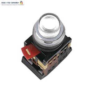 Кнопка ABLFP-22 прозрачный d22мм неон/240В 1з+1р ИЭК