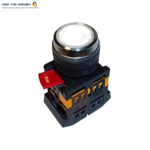 Кнопка ABLFS-22 прозрачный d22мм неон/240В 1з+1р ИЭК