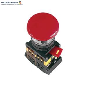 """Кнопка AEА-22 """"Грибок"""" красный d22мм 1з+1р ИЭК"""