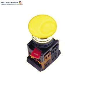 """Кнопка AEА-22 """"Грибок"""" желтый d22мм 1з+1р ИЭК"""