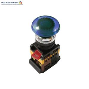 "Кнопка AELA22 ""Грибок"" синий d22мм неон/240В 1з+1р ИЭК"