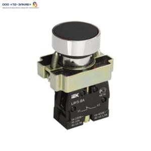 Кнопка управления LAY5-BA21 без подсветки черная 1з ИЭК