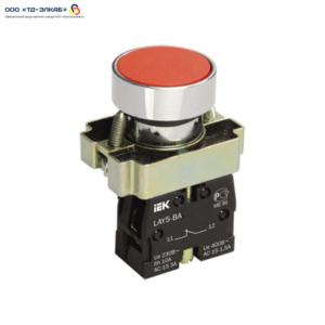 Кнопка управления LAY5-BA42 без подсветки красная 1р ИЭК