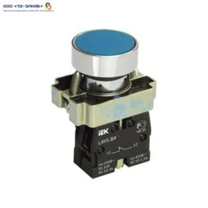 Кнопка управления LAY5-BA61 без подсветки синяя 1з ИЭК