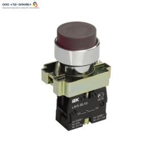 Кнопка управления LAY5-BL21 без подсветки черная 1з ИЭК