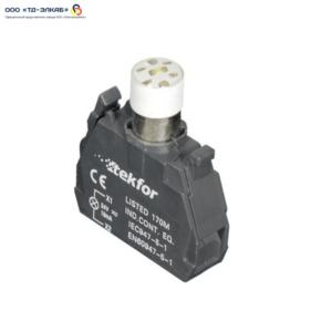 Ламповый блок со встроеным светодиодом, 220V, белый