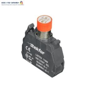 Ламповый блок со встроеным светодиодом, 220V, красный