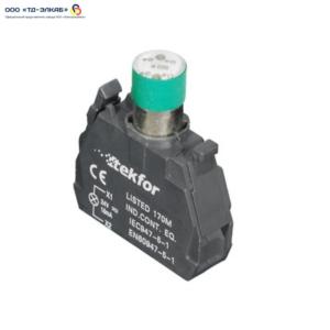 Ламповый блок со встроеным светодиодом, 220V, зеленый