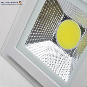 LED Glass COB 5W 400lm 6000К 95*95 мм