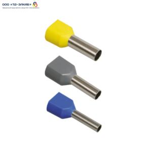Наконечник-гильза НГИ2 4,0-12 с изолированным фланцем (серый) (100 шт) ИЭК