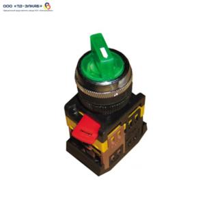 Переключатель АNСLR-22-3  на 3 фикс.полож.зеленый неон/240В I-O 1з+1р ИЭК