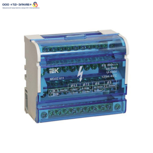 Шины на DIN-рейку в корпусе (кросс-модуль) 3L+PEN 4х11 ИЭК