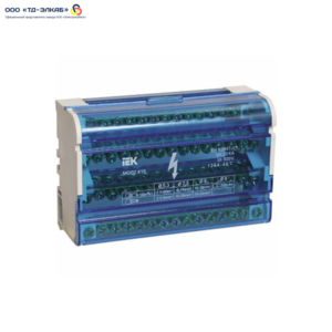 Шины на DIN-рейку в корпусе (кросс-модуль) 3L+PEN 4х15 ИЭК