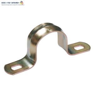 Скоба металлическая двухлапковая  ИЭК d25-26мм