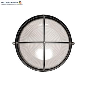 Светильник НПП1108 черный/круг решетка крупная  100Вт IP54  ИЭК