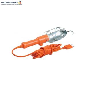 Светильник переносной УП-1Р плоская вилка (с выкл.) 2Р/5метров 2х0,75 ИЭК