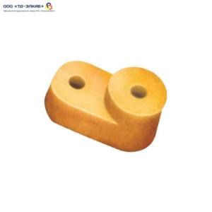 """Угловой изолятор для  """"О"""" шины желтый (200 штук)"""