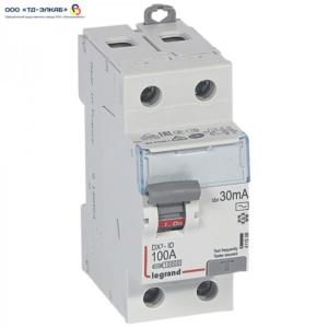 ВДТ DX3 2П 100А 30мА-AC